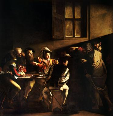 The_Calling_of_Saint_Matthew-Caravaggo_(1599-1600)
